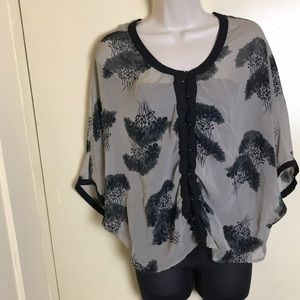 Apostrophe tunic. Size XS. Color black and grey